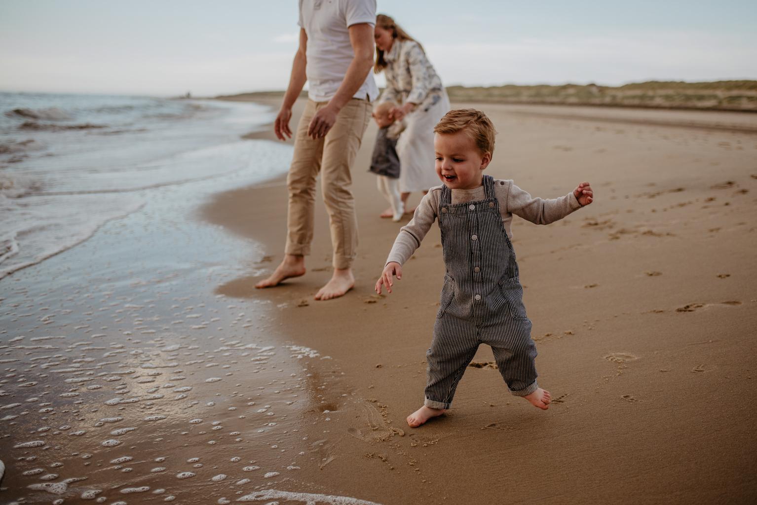 Familieshoot op het strand